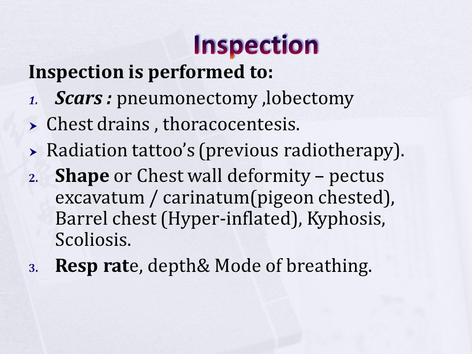 Inspection Inspection is performed to: