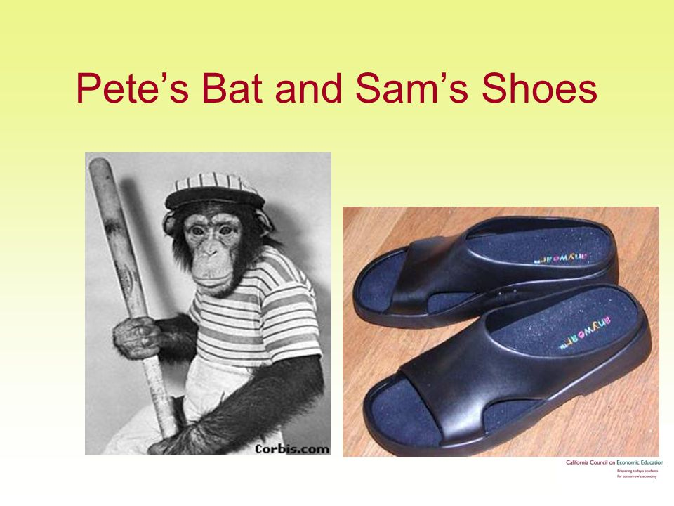 Pete's Bat and Sam's Shoes