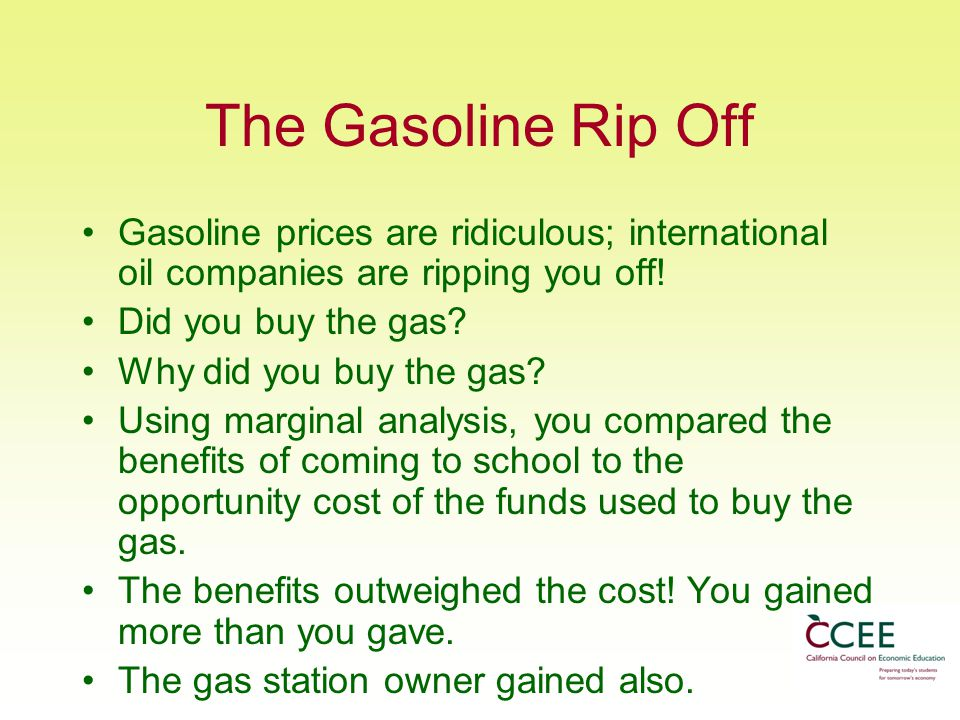 The Gasoline Rip Off Gasoline prices are ridiculous; international oil companies are ripping you off!