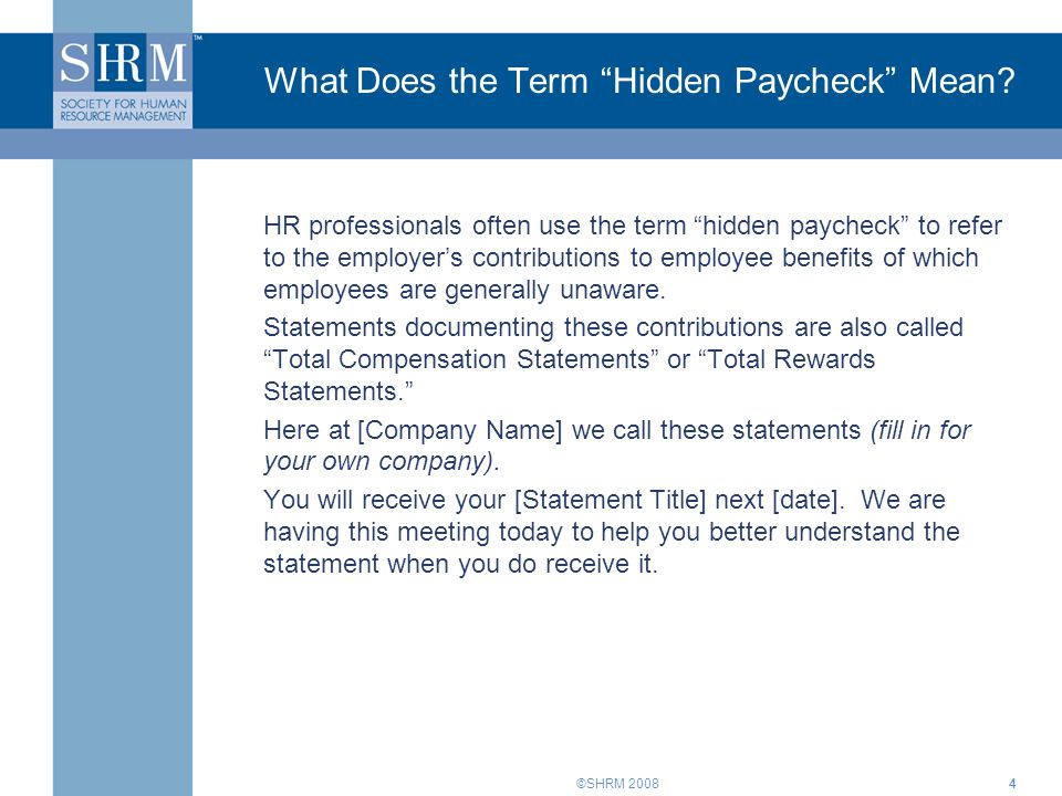 What Does the Term Hidden Paycheck Mean