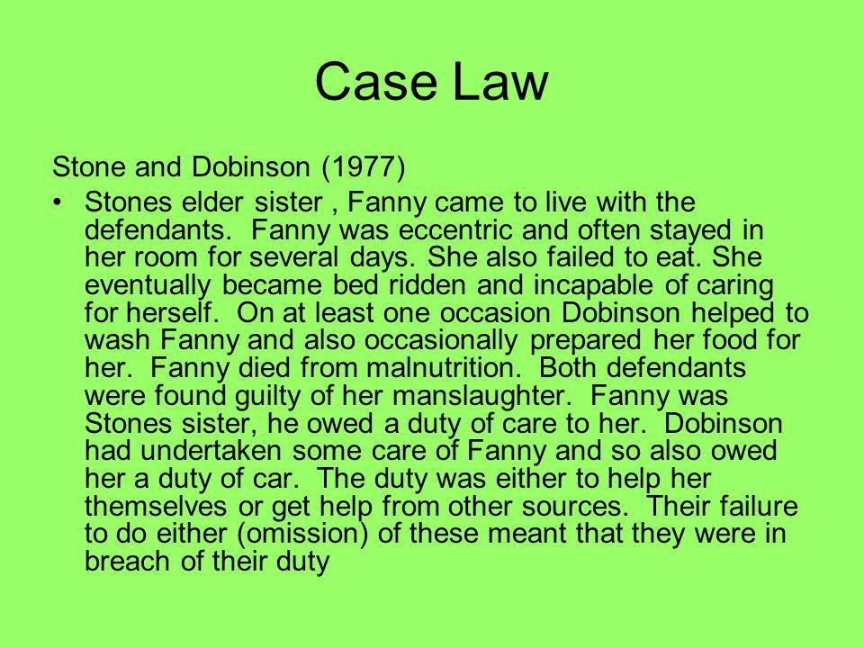 Case Law Stone and Dobinson (1977)