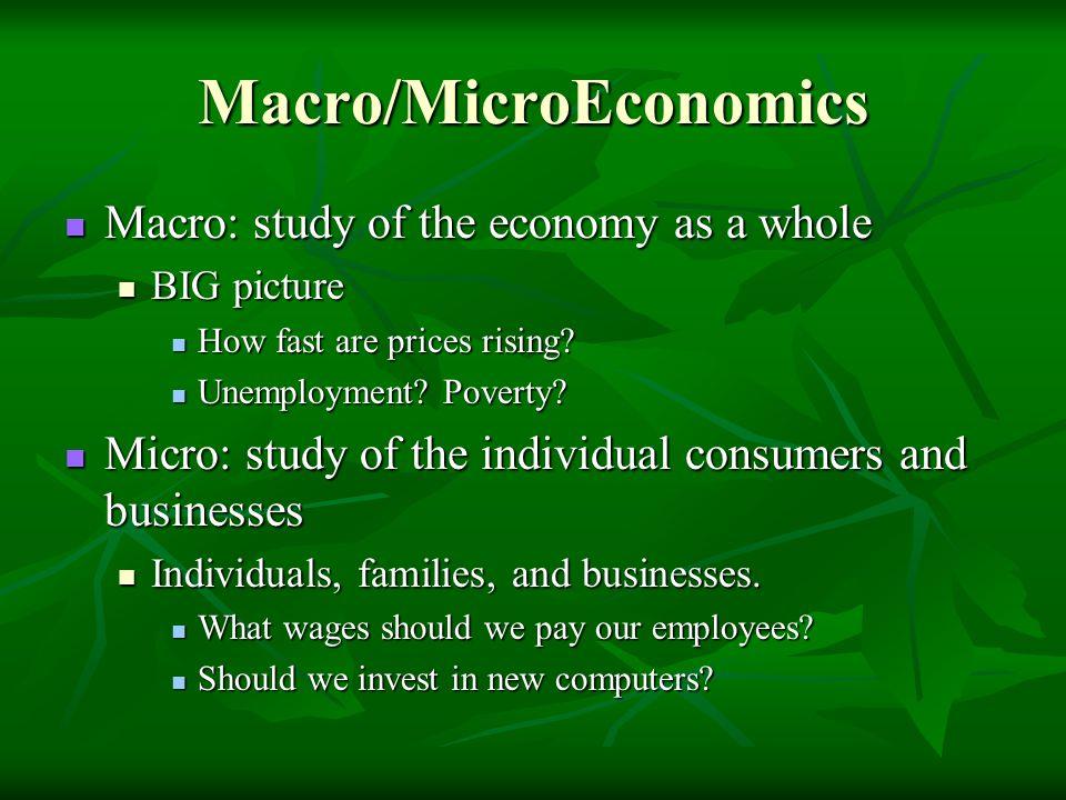 Macro/MicroEconomics