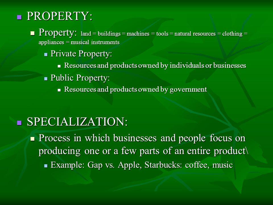 PROPERTY: SPECIALIZATION: