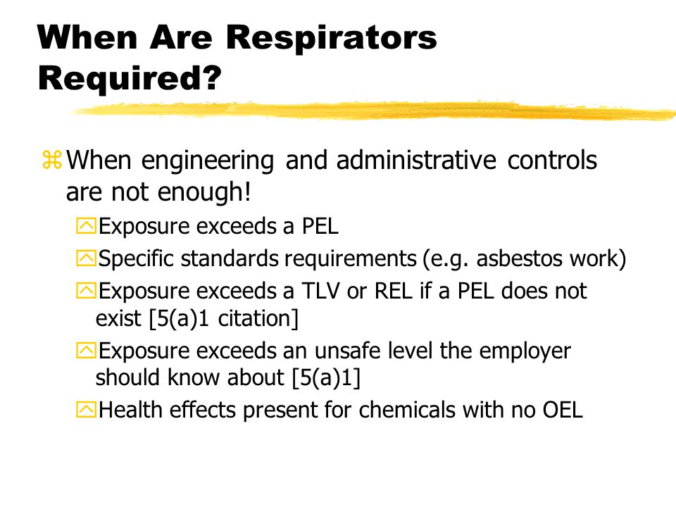When Are Respirators Required