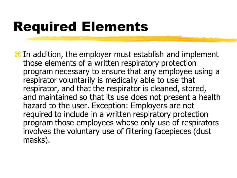 Required Elements
