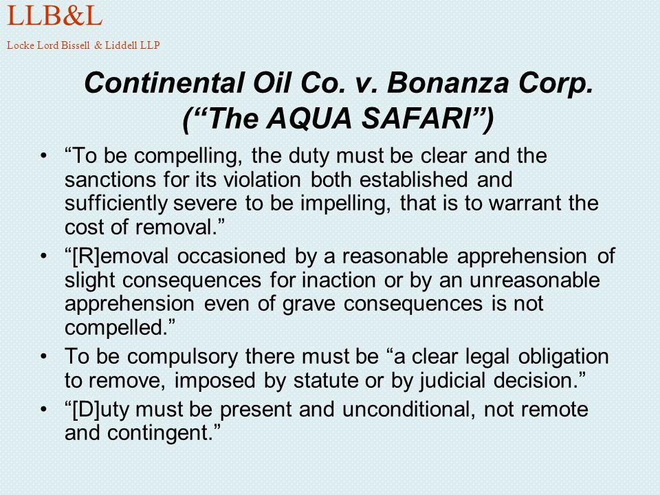 Continental Oil Co. v. Bonanza Corp. ( The AQUA SAFARI )