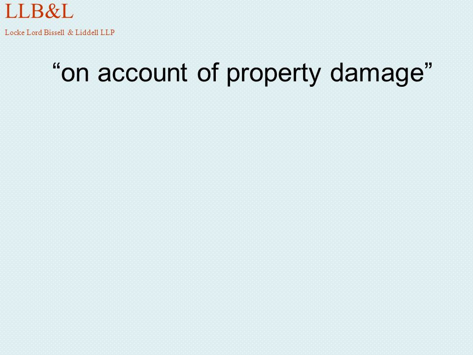 on account of property damage