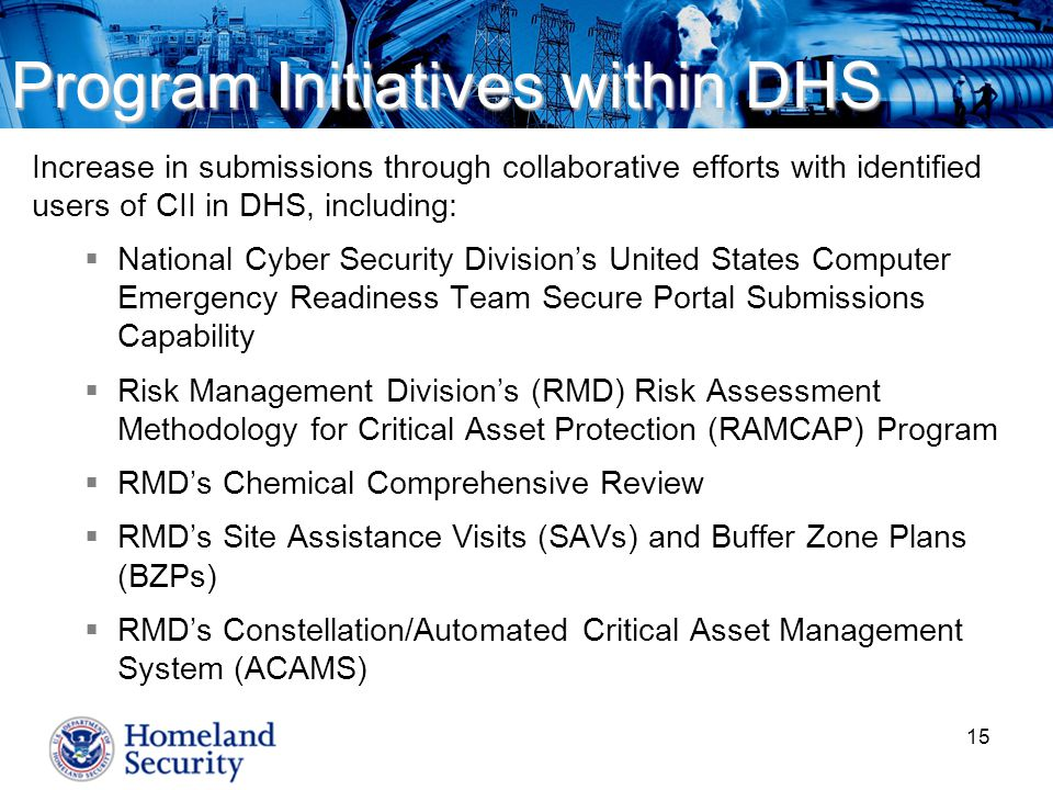 Program Initiatives within DHS