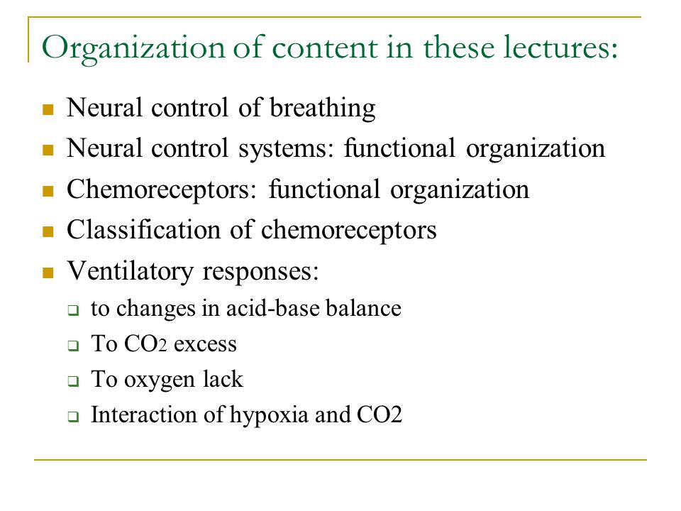 Organization of content in these lectures: