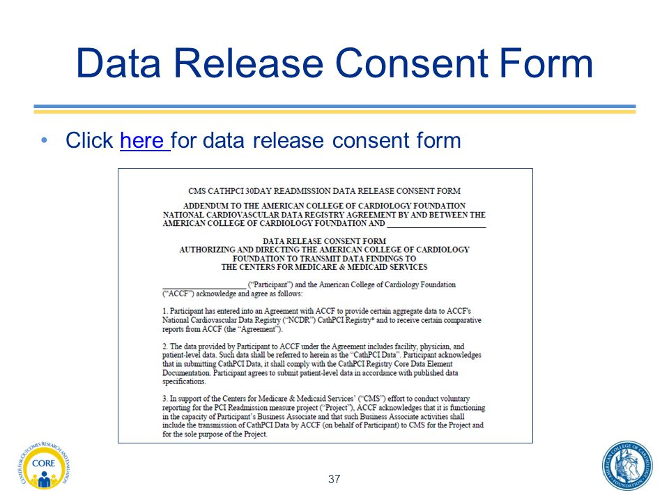 Data Release Consent Form