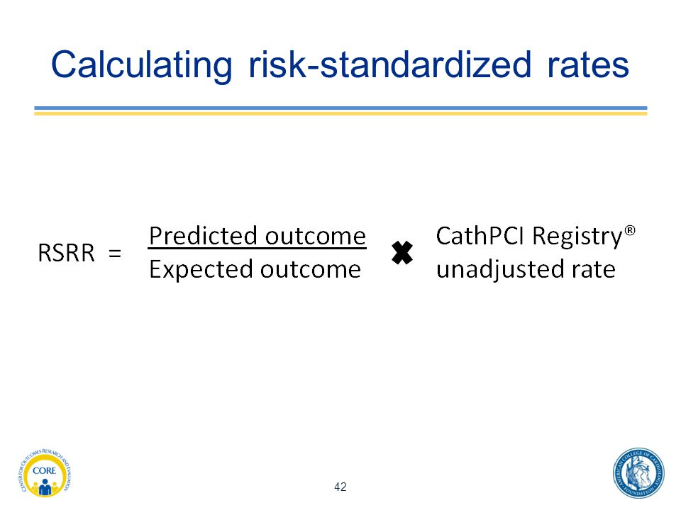 Calculating risk-standardized rates