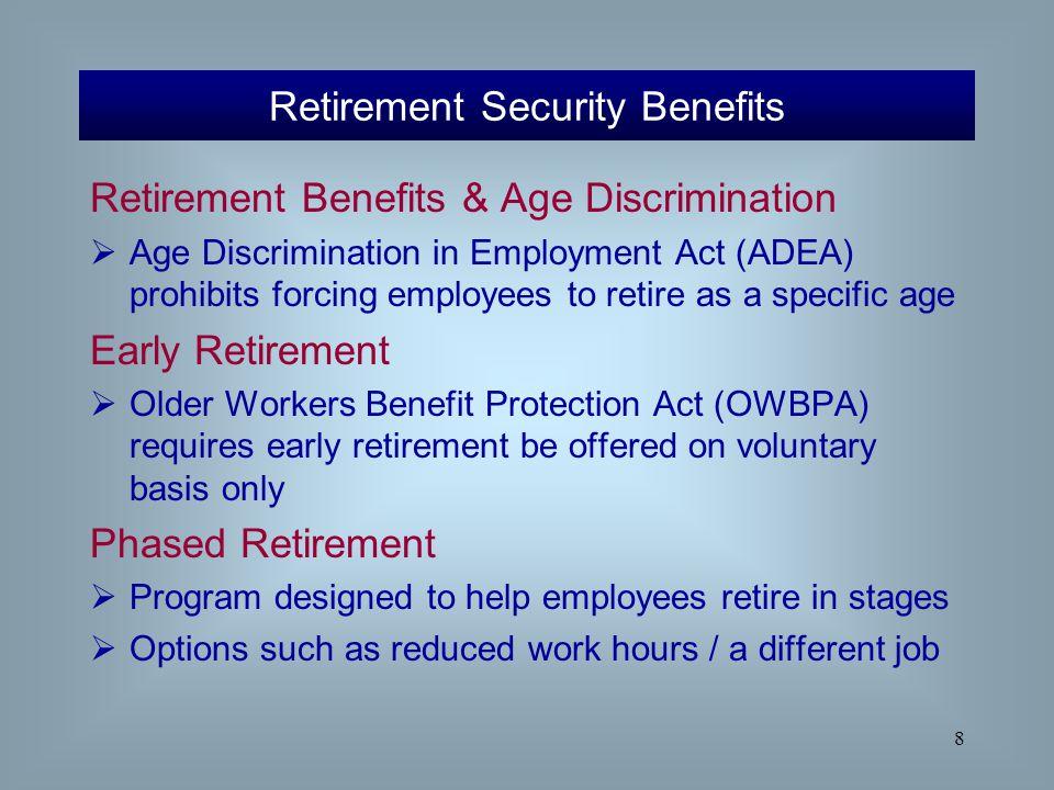 phased retirement essay Once an individual is sure that they are a phased retirement candidate  we can write a custom essay on  alternative work arrangements essay sample.