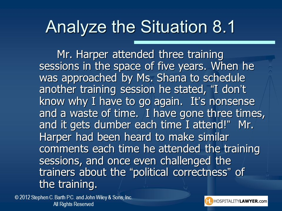 Analyze the Situation 8.1