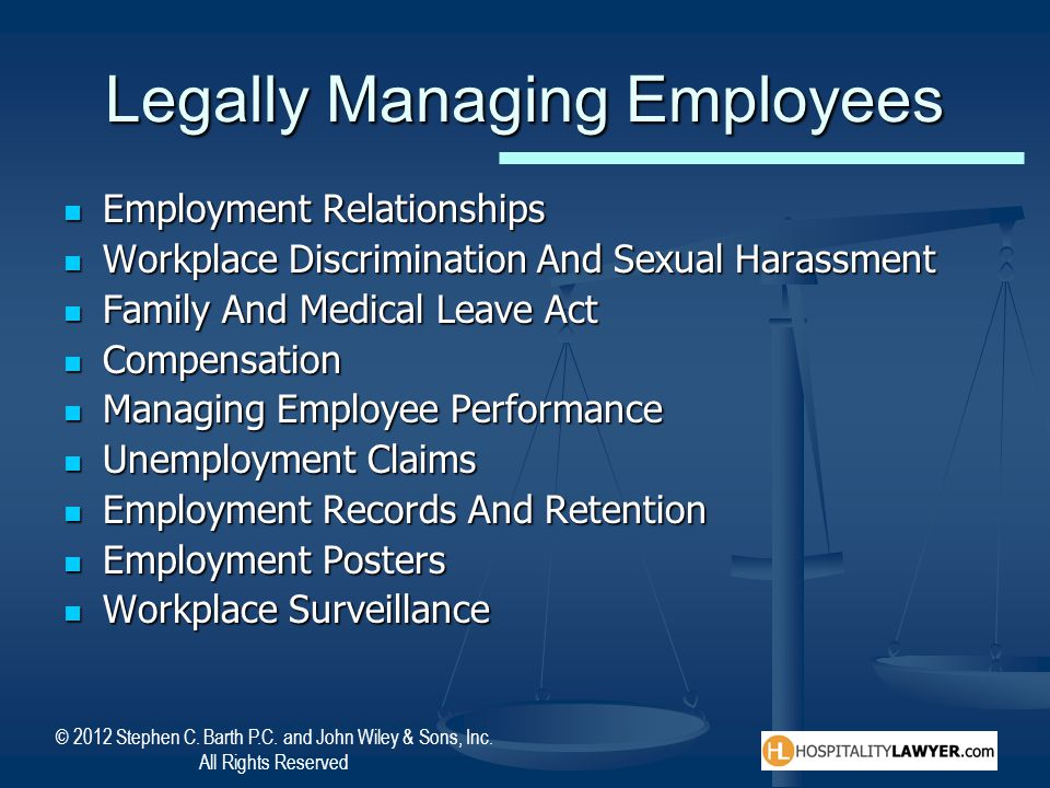 Legally Managing Employees