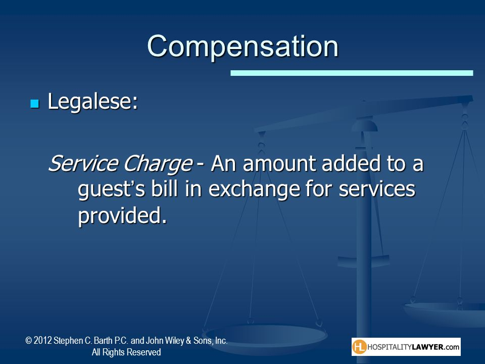 Compensation Legalese: