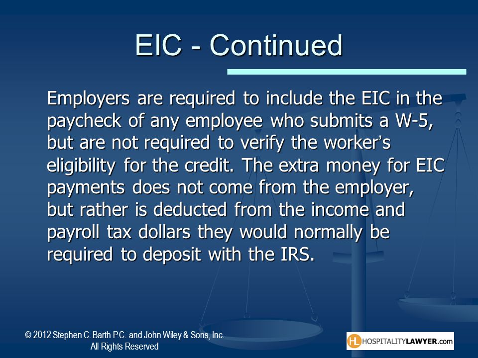 EIC - Continued