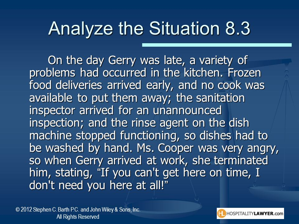Analyze the Situation 8.3