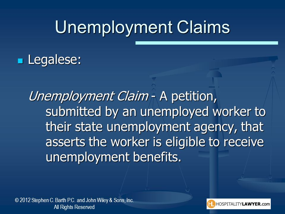 Unemployment Claims Legalese: