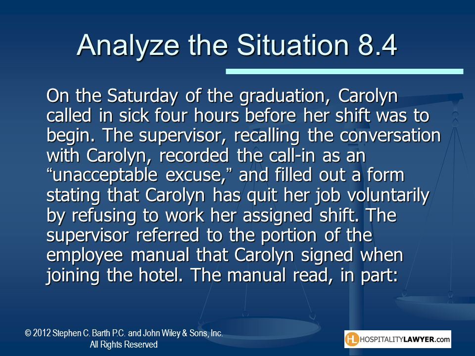 Analyze the Situation 8.4