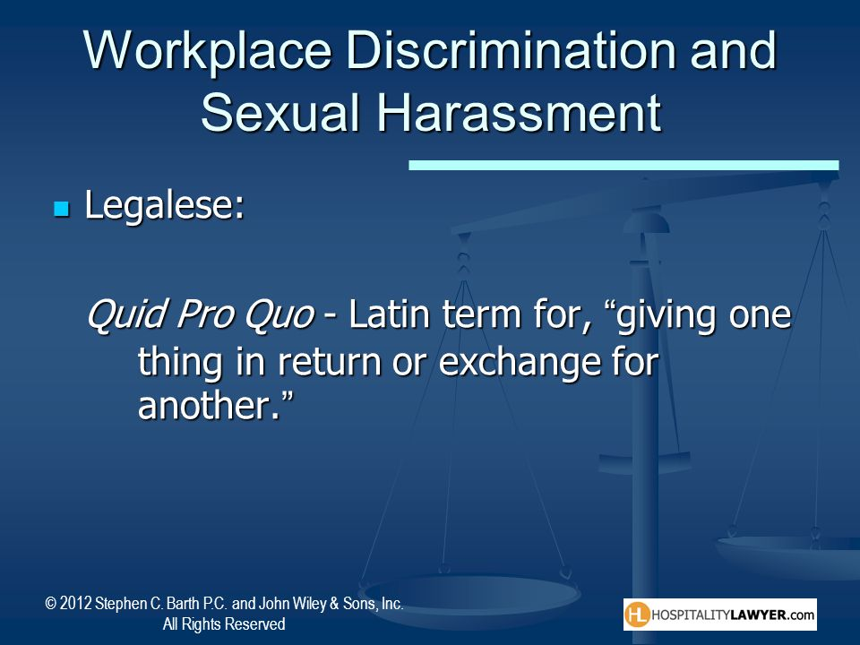 Workplace Discrimination and Sexual Harassment