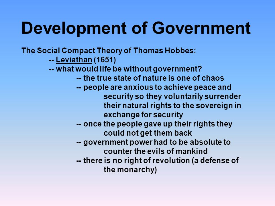 Development of Government