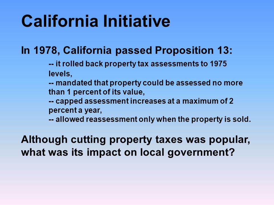 California Initiative