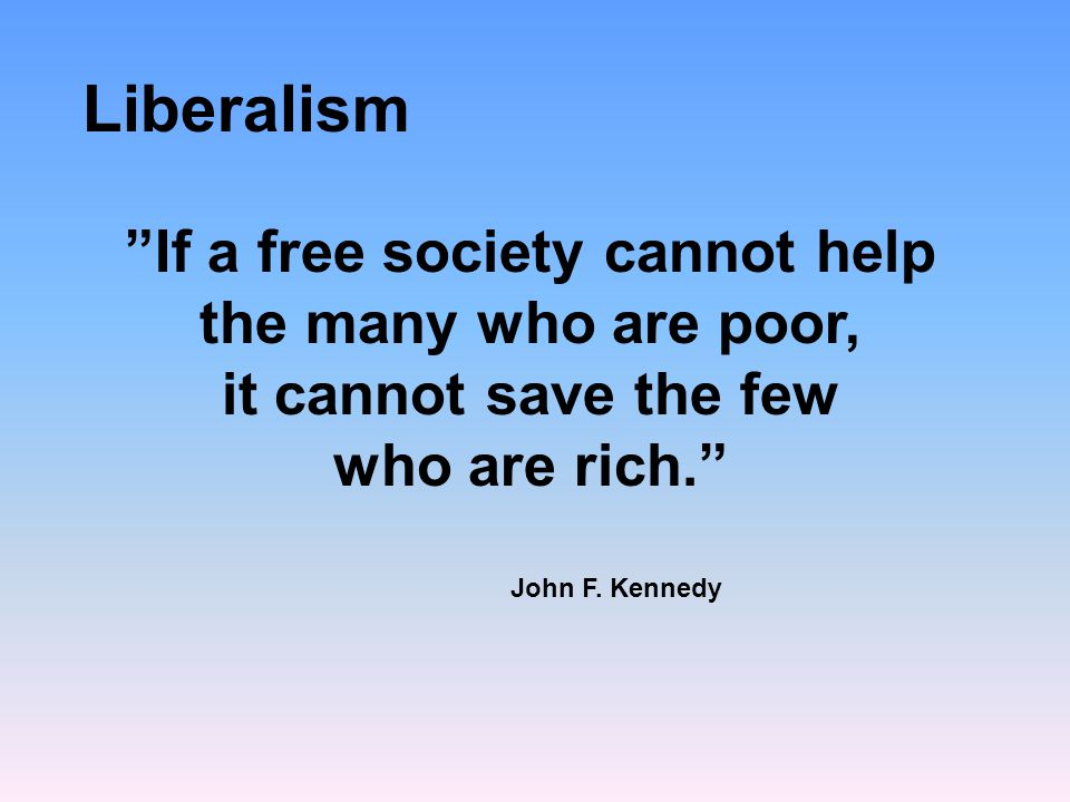 If a free society cannot help