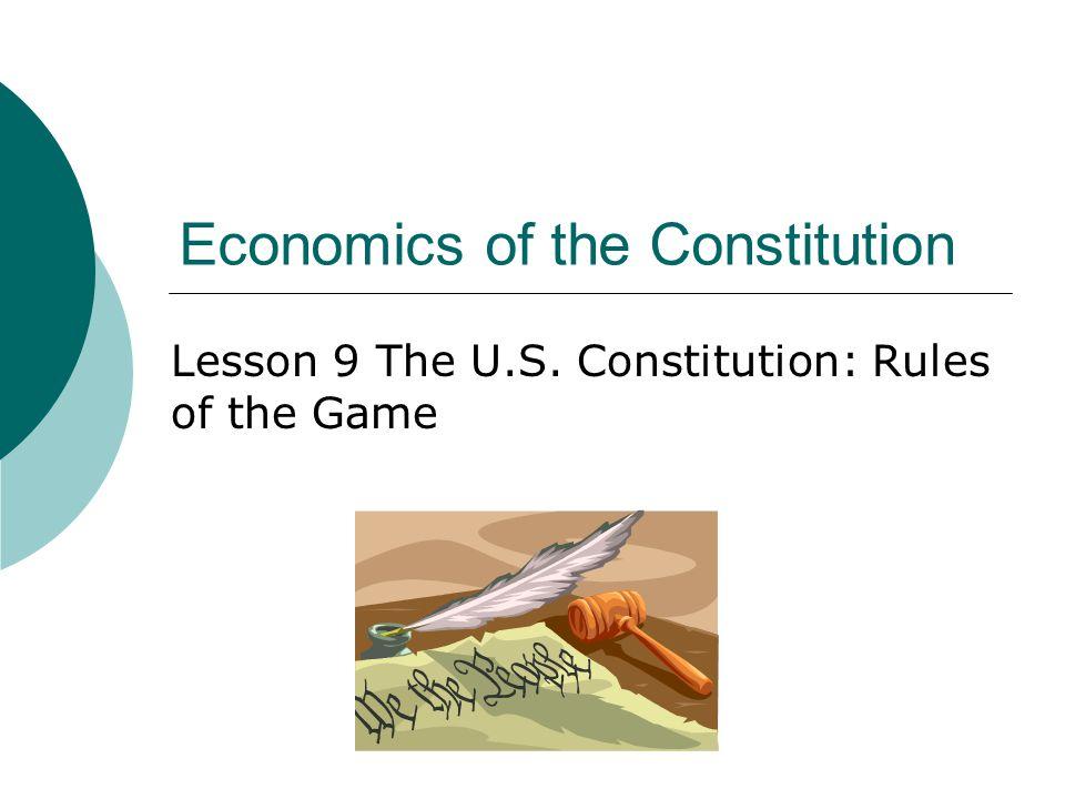 Economics of the Constitution