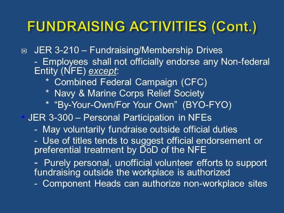 FUNDRAISING ACTIVITIES (Cont.)