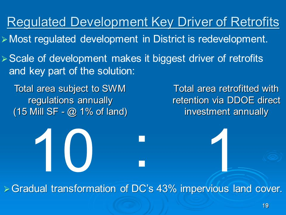 Regulated Development Key Driver of Retrofits