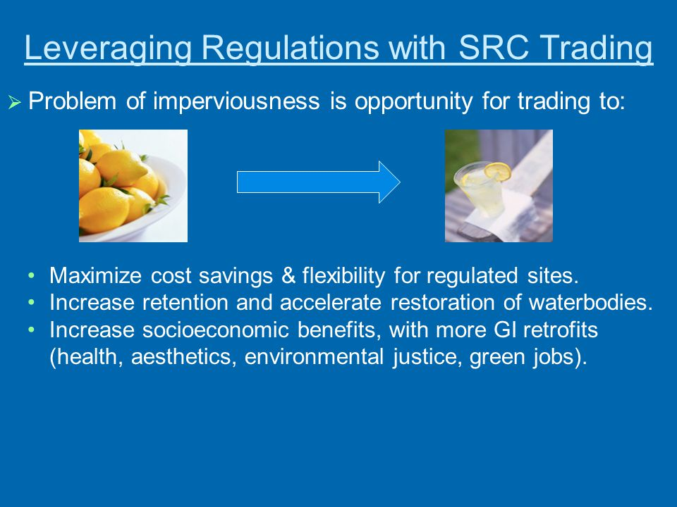 Leveraging Regulations with SRC Trading
