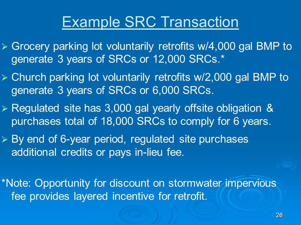 Example SRC Transaction