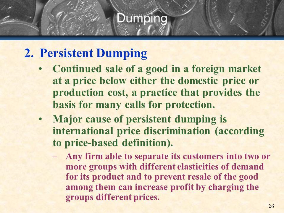 Dumping Persistent Dumping
