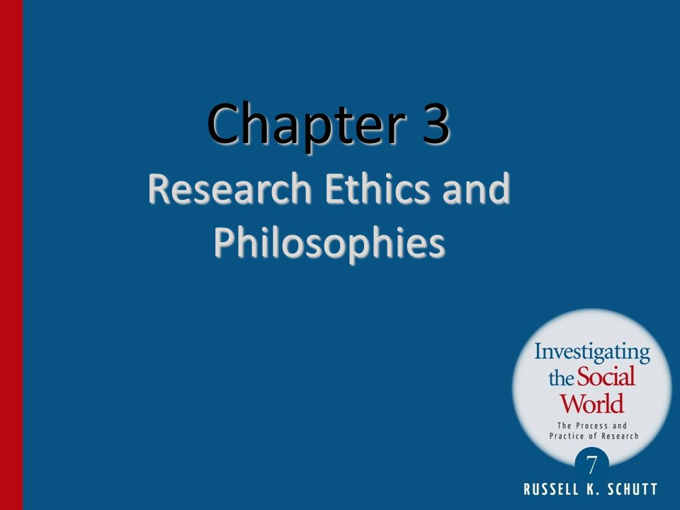 Chapter 3 Research Ethics and Philosophies