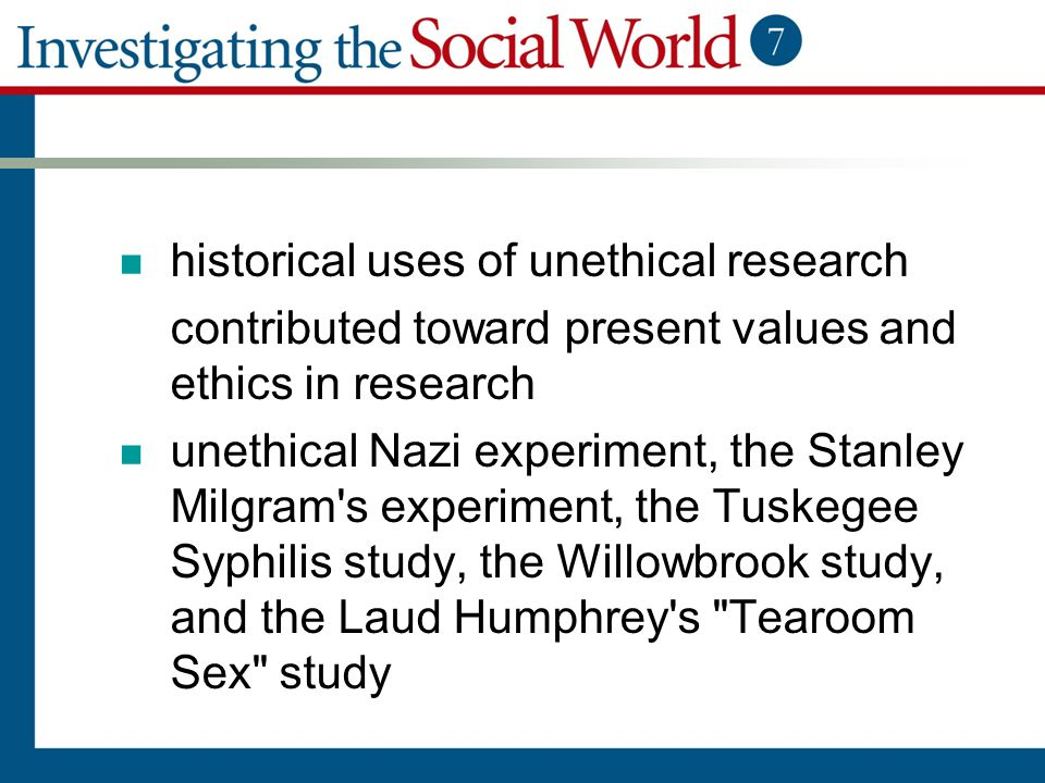 historical uses of unethical research