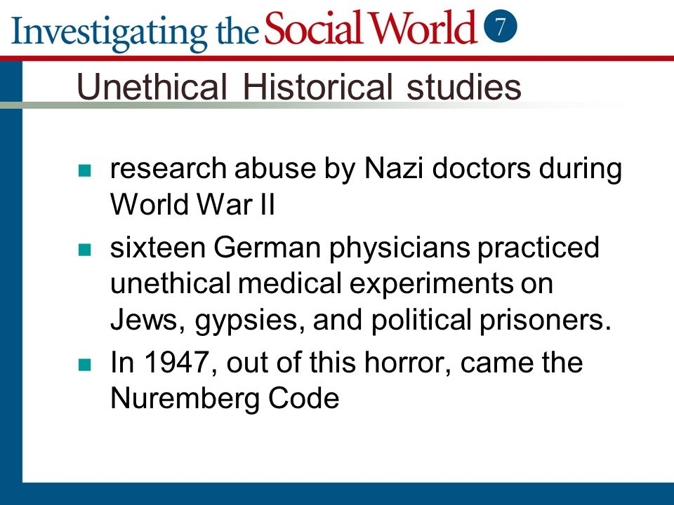 Unethical Historical studies