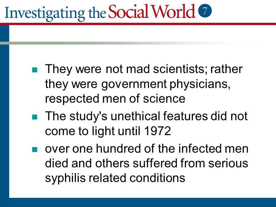They were not mad scientists; rather they were government physicians, respected men of science