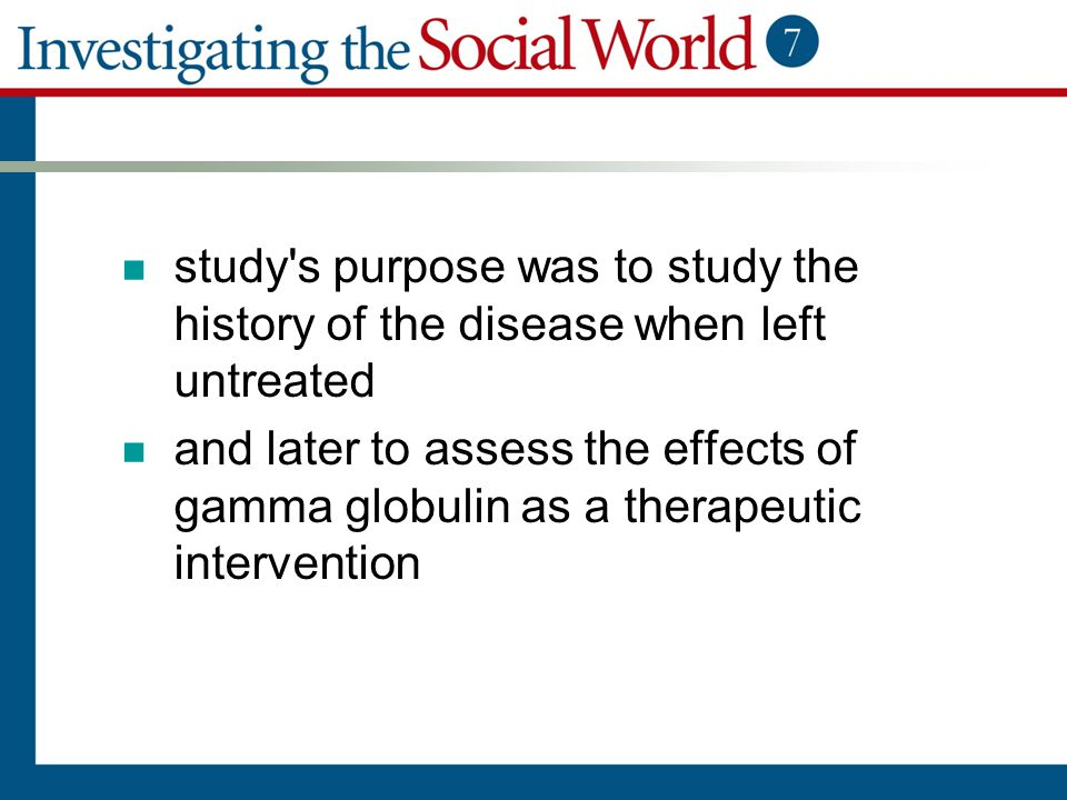 study s purpose was to study the history of the disease when left untreated