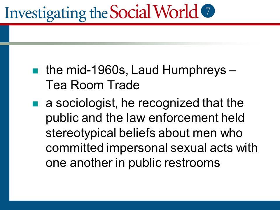 the mid-1960s, Laud Humphreys – Tea Room Trade
