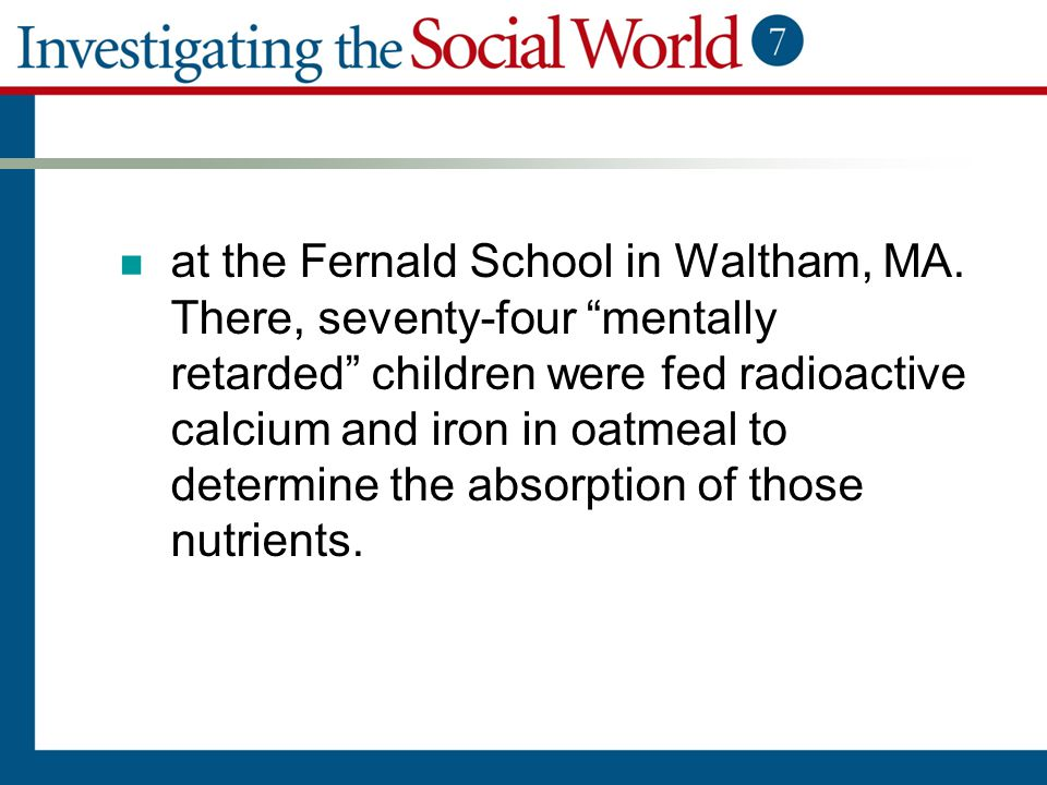 at the Fernald School in Waltham, MA