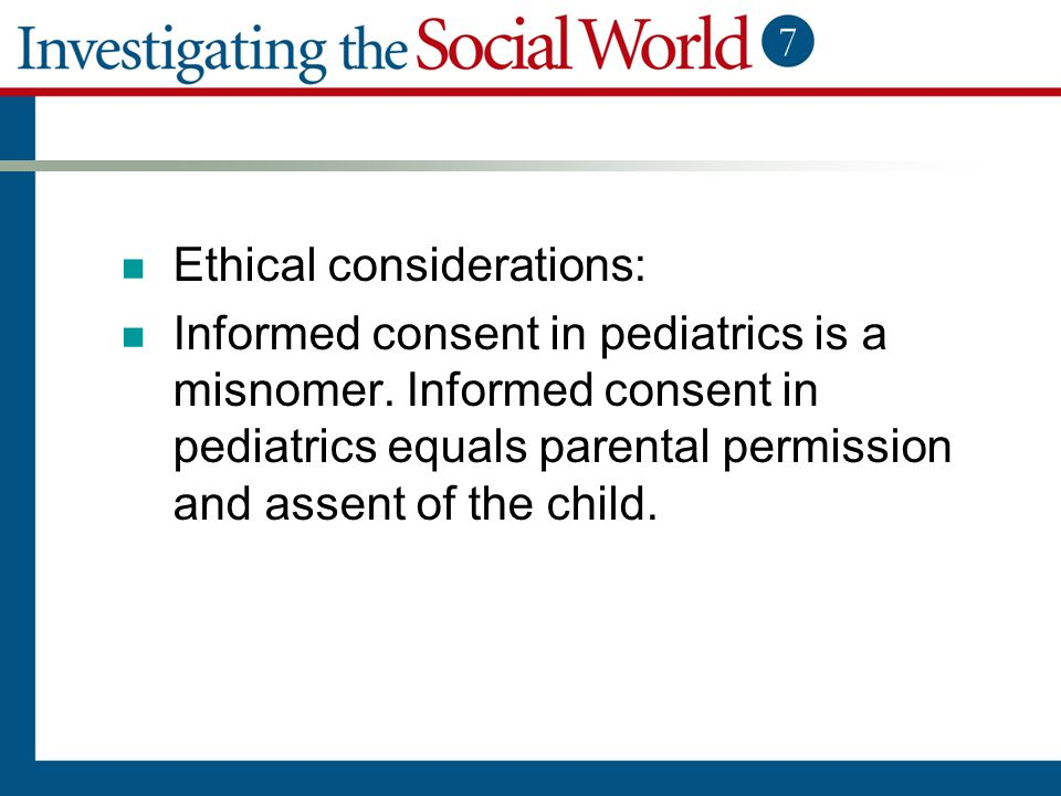 Ethical considerations:
