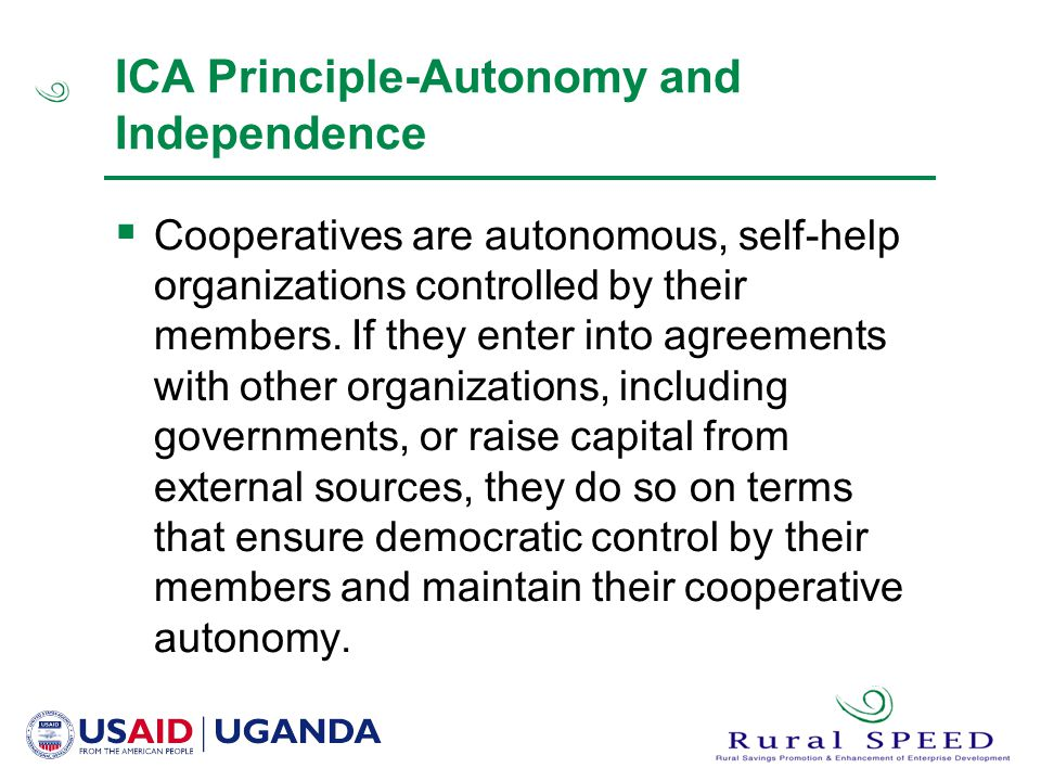 ICA Principle-Autonomy and Independence