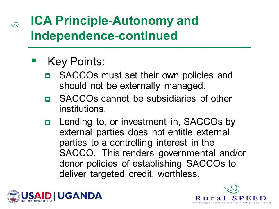 ICA Principle-Autonomy and Independence-continued