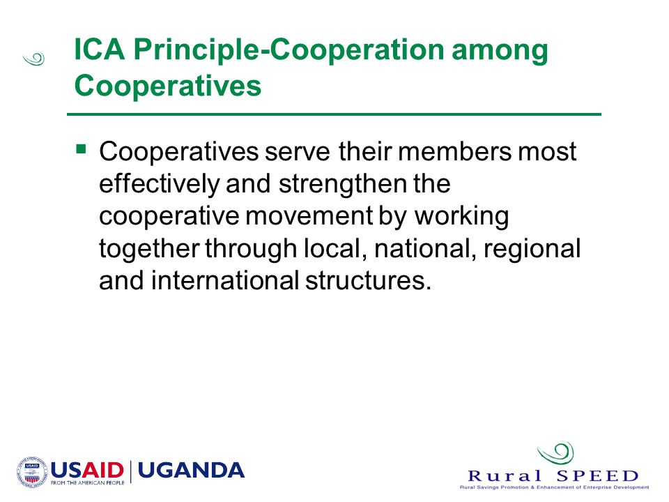 ICA Principle-Cooperation among Cooperatives