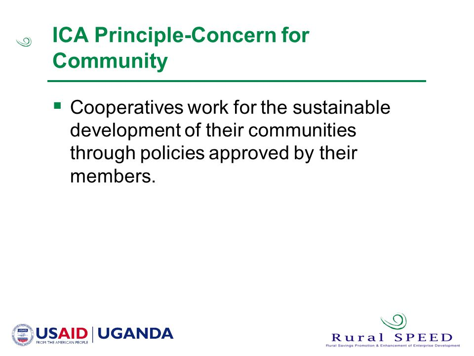 ICA Principle-Concern for Community