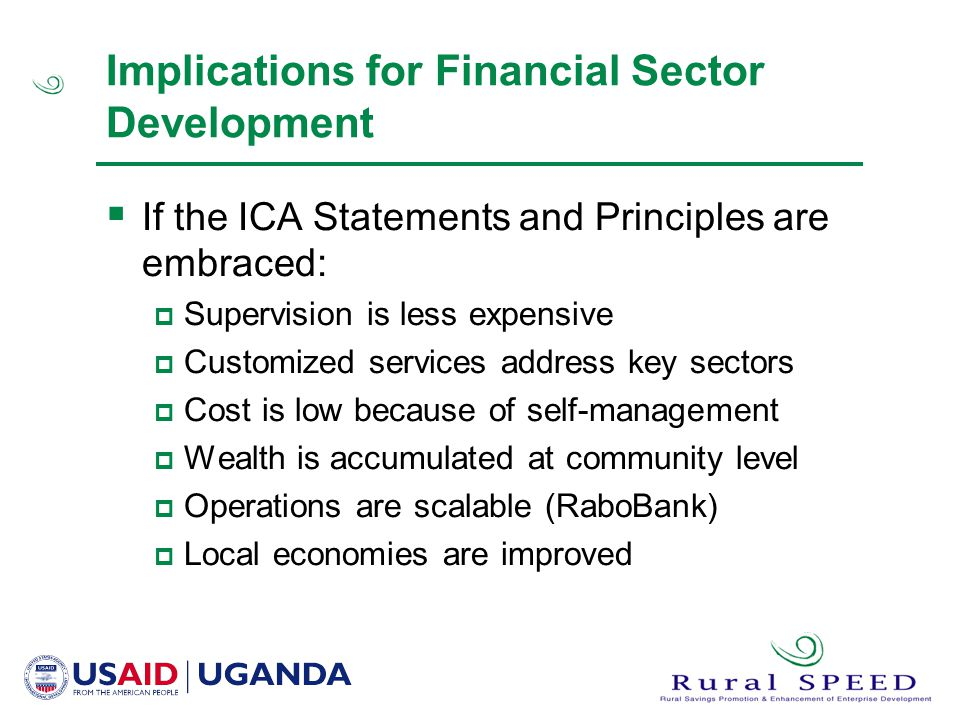 Implications for Financial Sector Development