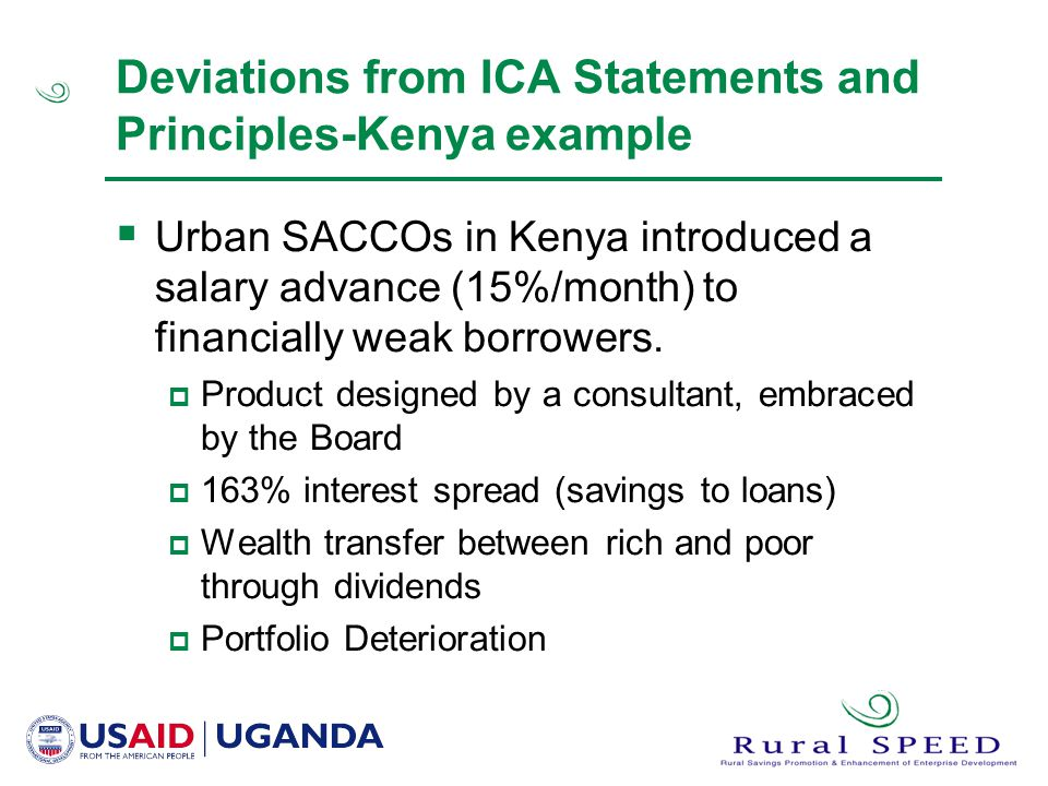 Deviations from ICA Statements and Principles-Kenya example