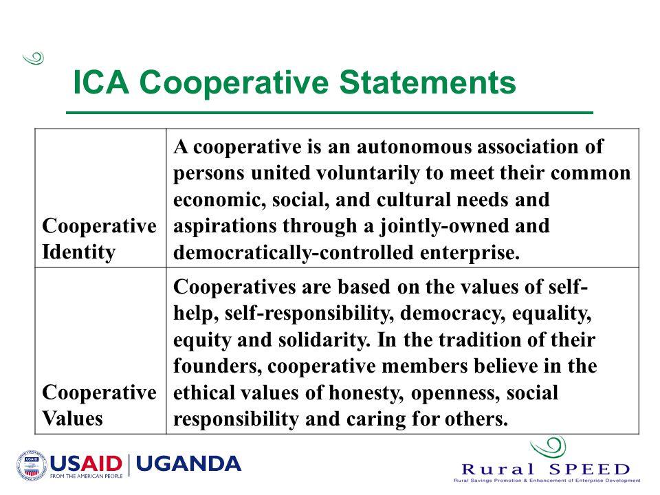 ICA Cooperative Statements