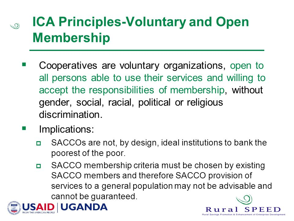 ICA Principles-Voluntary and Open Membership