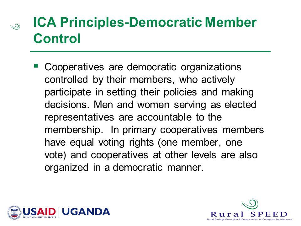 ICA Principles-Democratic Member Control